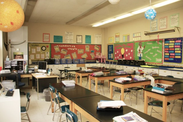 Ms. Alvey's Classroom before the makeover began